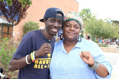 With Gilbert, the UG Hip Hop Archivist, at Howard University